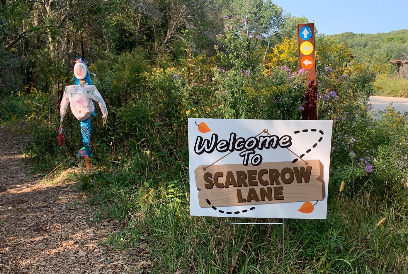 Scarecrow Lane at Apple Harvest Festival Friends of Retzer Nature Center
