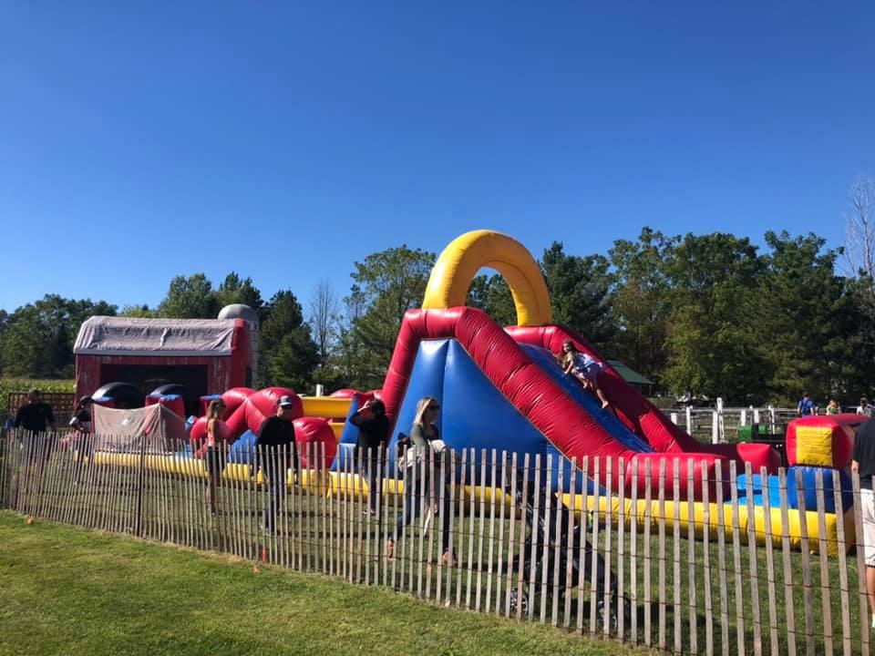 inflatables at Cedarburg Creek Farm Wisconsin