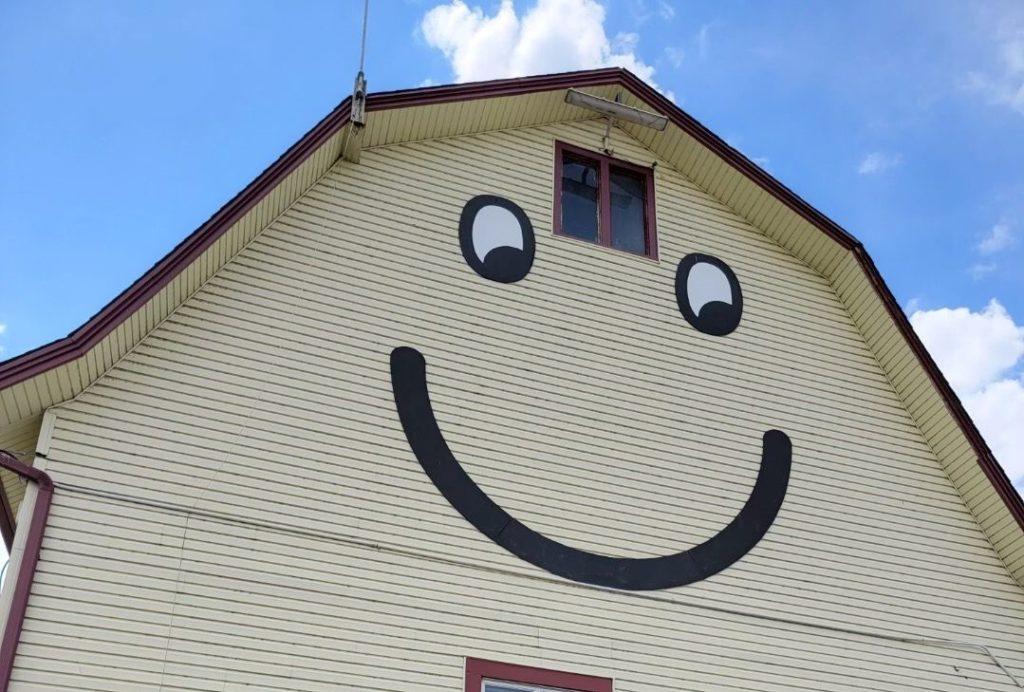 smiling barn at The Elegant Farmer Mukwonago Wisconsin