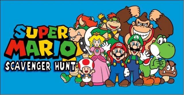 Super Mario Scavenger Hunt